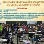 RECEPÇÃO CALOUROS ADMINISTRAÇÃO 2015